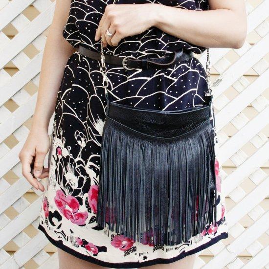 Make a Fringed Leather Bag