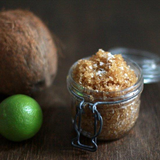 DIY Coconut-Lemon Foot Scrub