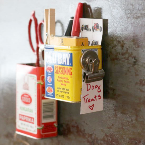 DIY Magnetic Spice Tin Organizers