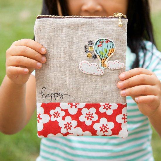 Air Balloon Zip Pouch