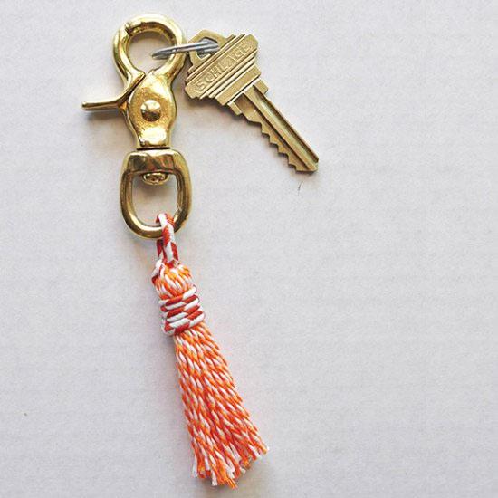 Swivel Tassel Keychain