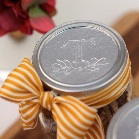 Custom Foil Mason Jar Toppers