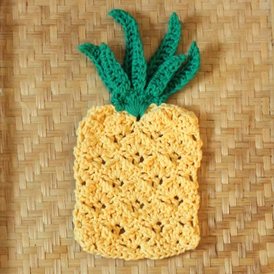 Crochet Pineapple Washcloth Pattern