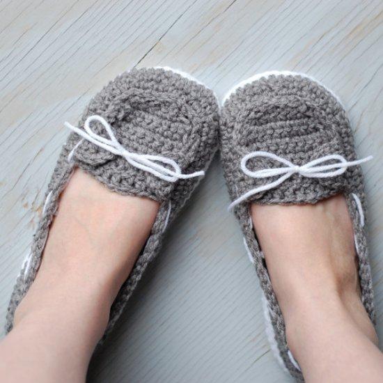 Crochet Women Slippers - Oa.. Description
