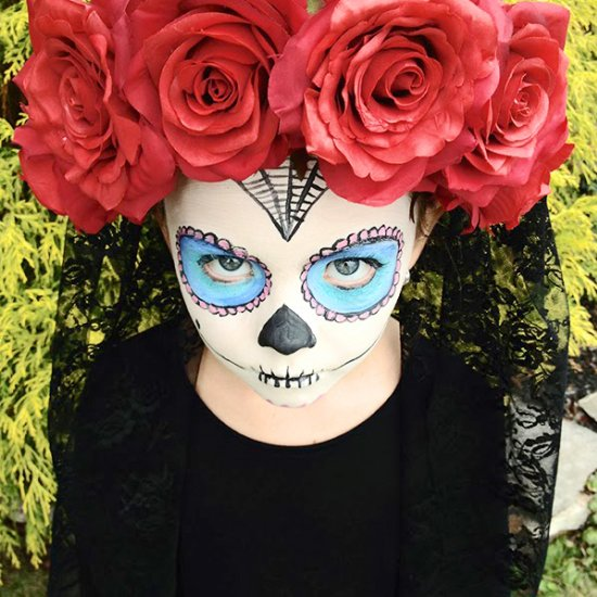 DIY Sugar Skull Costume