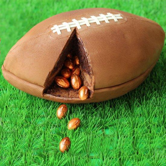 3-D Football Cake