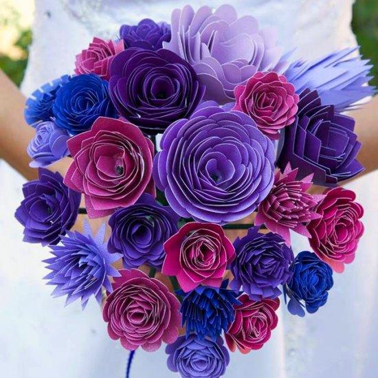 Stunning Paper Wedding Bouquet