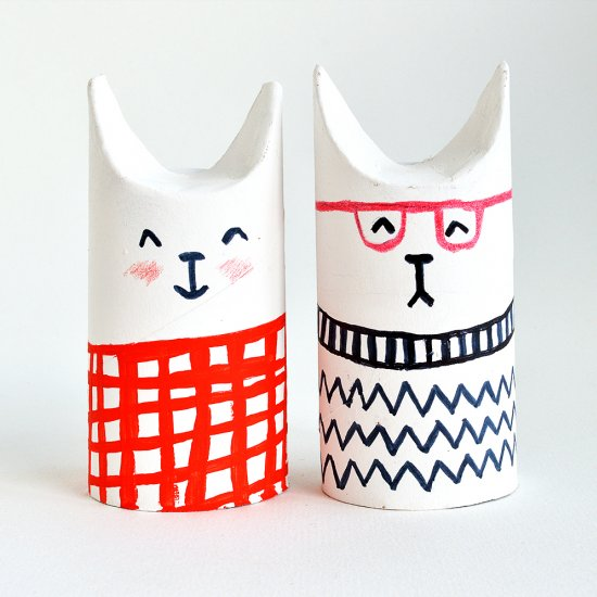 Toilet Roll Sophisti-Cats