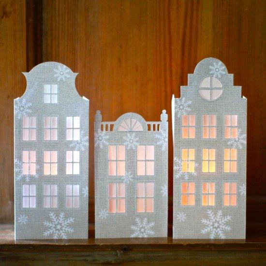 DIY Dutch House Luminaries