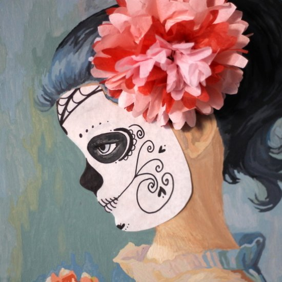 DIY Sugar Skull Portrait