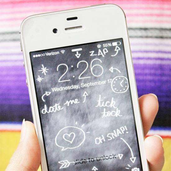 Free Chalkboard iPhone Wallpaper