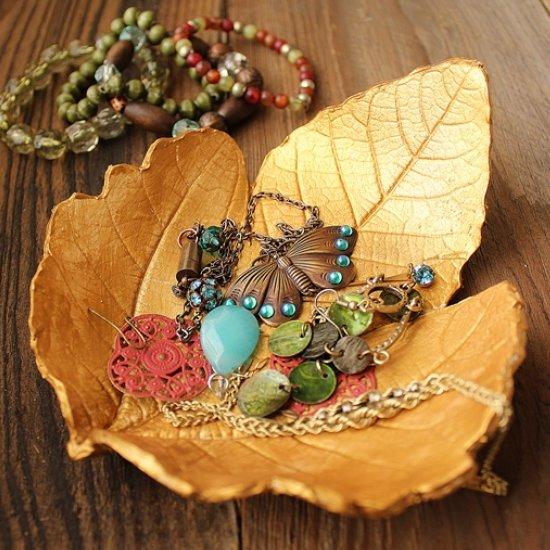 Autumn Leaf Jewelry Dish