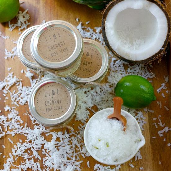 DIY Lime & Coconut Body Scrub