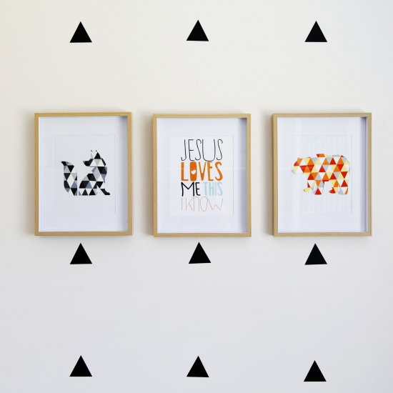 DIY Geometric Animal Wall Art