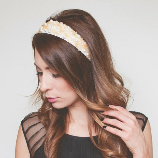 DIY Jeweled Headband