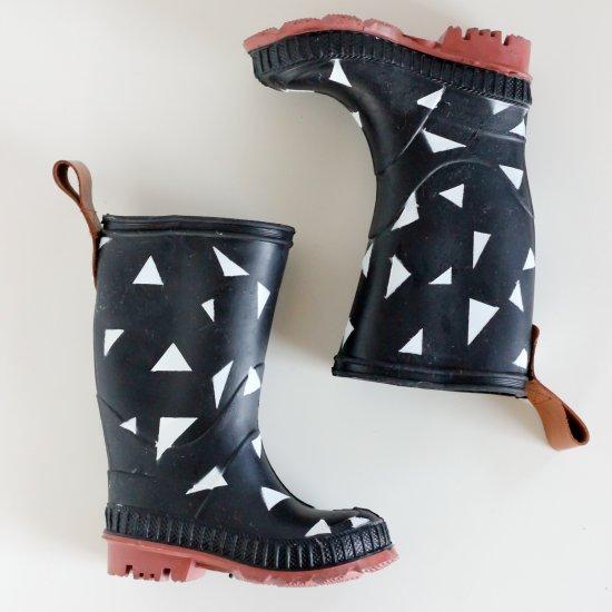 Spray Painted Rain Boots