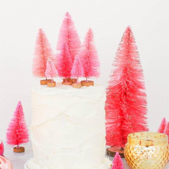 DIY Bottle Brush Cake Toppers