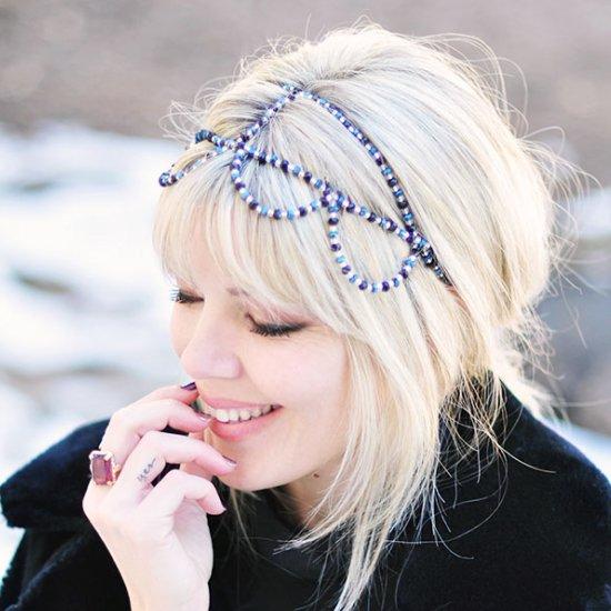 DIY Beaded Headband Crown
