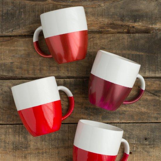 Two-Tone Dipped Mugs