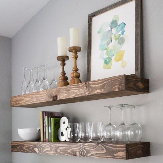 Make Storage with Floating Shelves