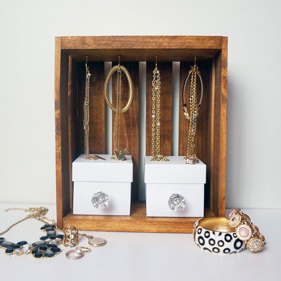 Crate Jewelry Display