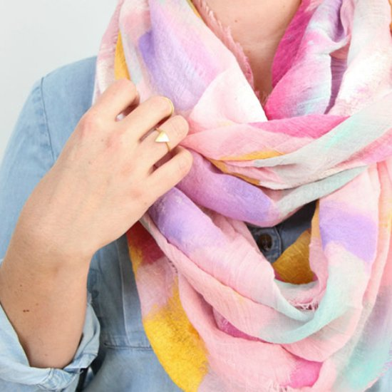 DIY Watercolor Pattern Scarf