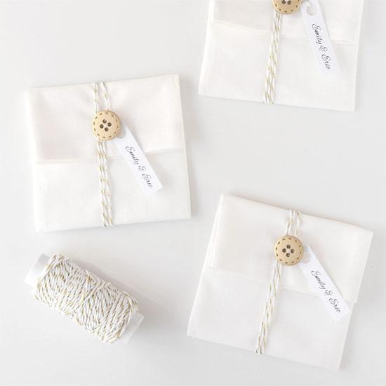 DIY Button & String Favour Pouches