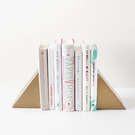 diy triangle bookends