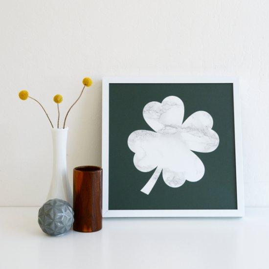 DIY Marble Shamrock Print