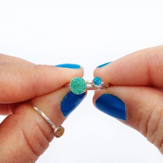 DIY Beaded Stackable Rings