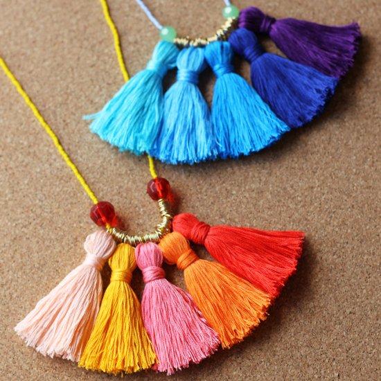 DIY Ombré Tassel Necklace