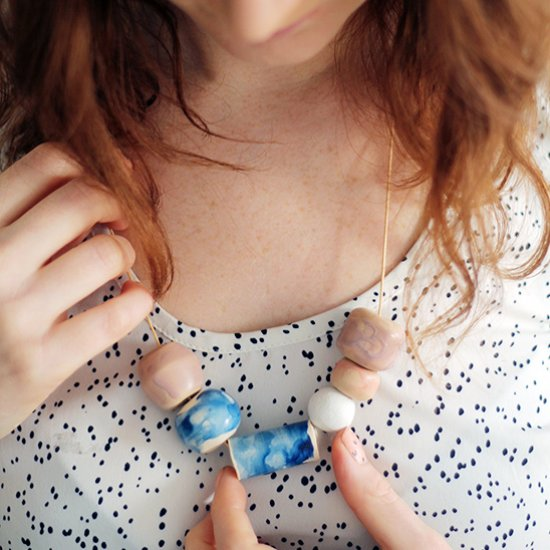 DIY Faux Ceramic Glazed Beads