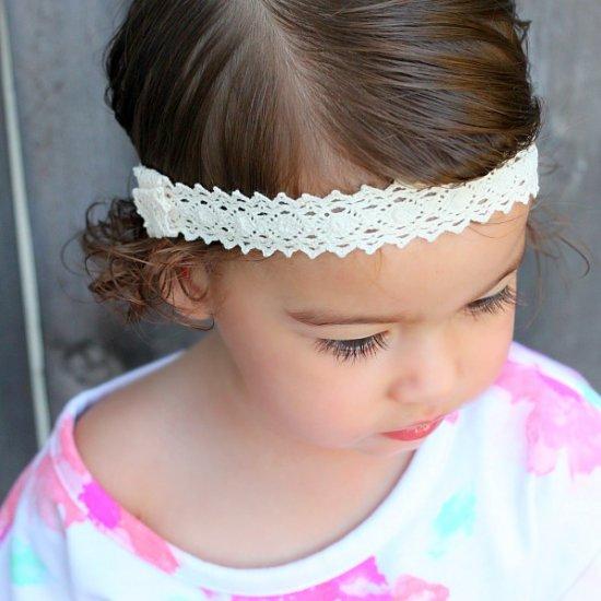 No Sew Crocheted Lace Headband