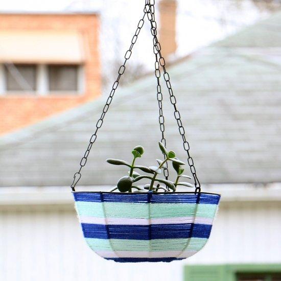 Dollar Store Hanging Planter Makeov