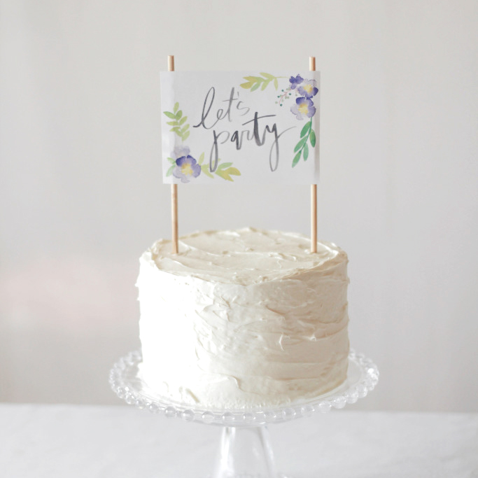 Printable Floral Cake Topper