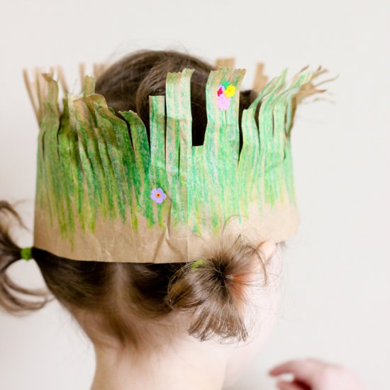 Recycled paper grass crowns