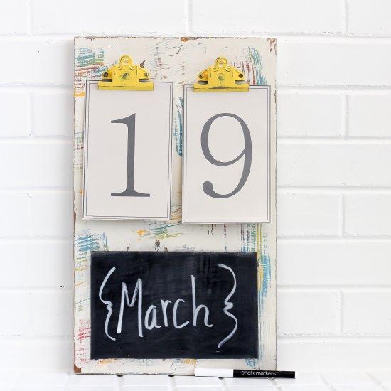 DIY Colorful Chalkboard Calendar