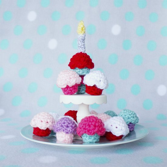 Free Crochet Pattern Mini Cupcakes