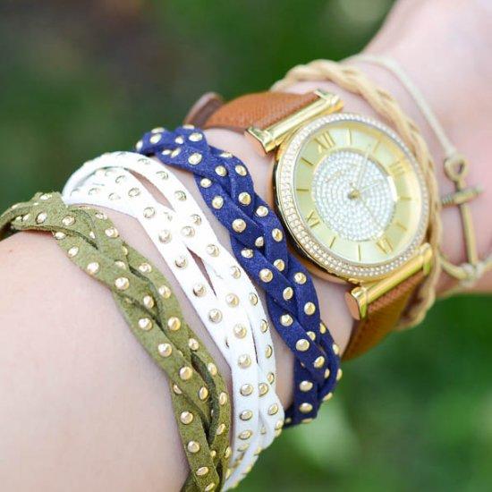 Studded Braid Bracelets