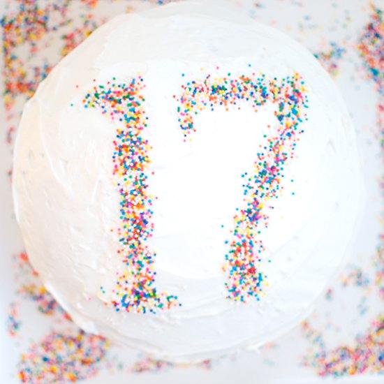 Make A Birthday Cake Stencil