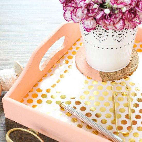 Bright Gold Foil Tray