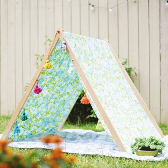 DIY fold up A-frame tent