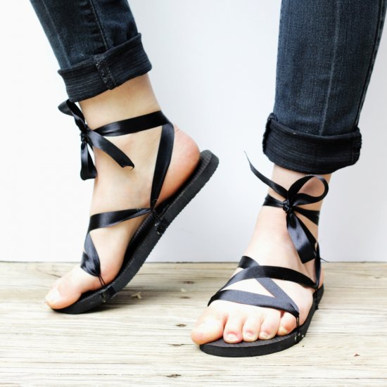 Ribbon Sandals DIY