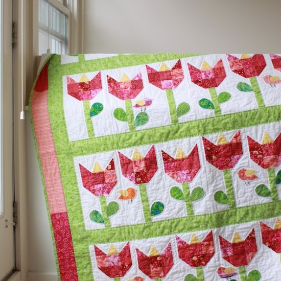 Tulip Quilt free pattern