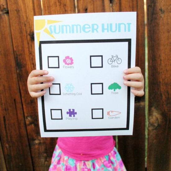 summer hunt preschool printable