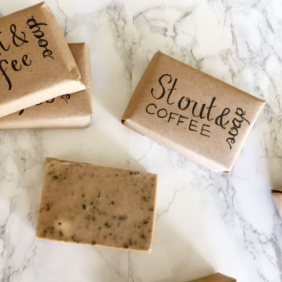 DIY Stout & Coffee Soap