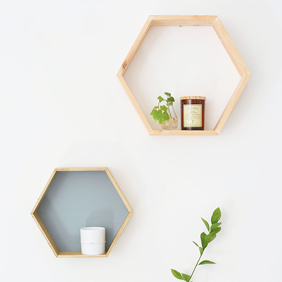 DIY honeycomb shelving