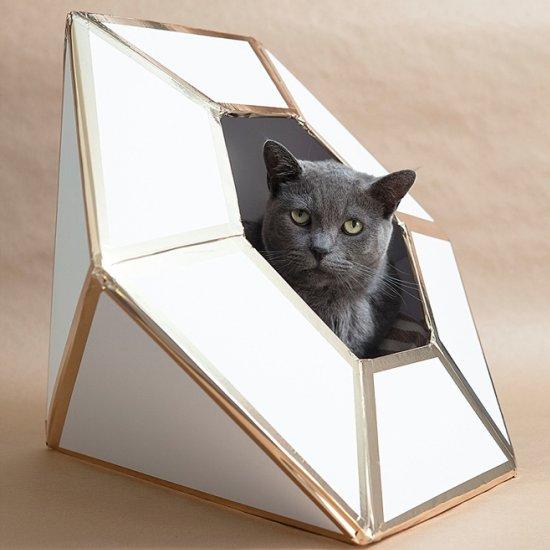 DIY Giant Diamond Cat Box