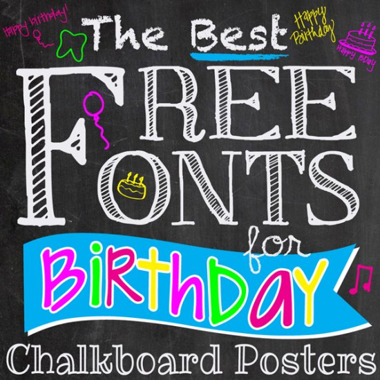 Best FREE Fonts for Birthday Poster