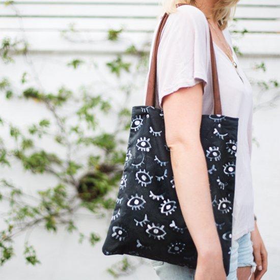 DIY Batik Eye Print Bag